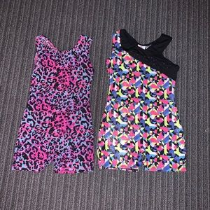 Two size 6 gymnastic suits